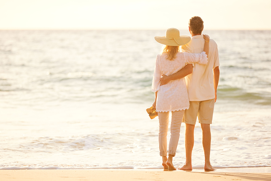 Image of Couple Watching Sunset Retirement Planning Working for Them
