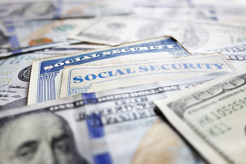 Image of Social Security Cards and Currency