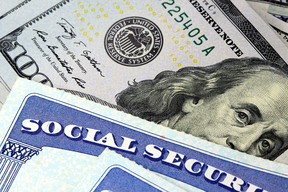 Image of Social Security Card and Cash